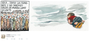 """"""" We are human that do not know how to make a world as people """" LINIERS  - www.porliniers.com"""