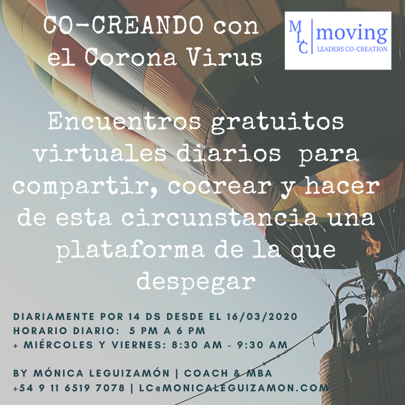 Co-creando con el Corona Virus